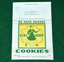 VINTAGE  GIRL SCOUT - COOKIE CAMPAIGN WINDOW STICKER