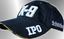 "K-9 ""IPO"" Schutzhund Hat - CUSTOM ONE-OF-A-KIND! (Grey/Black)"