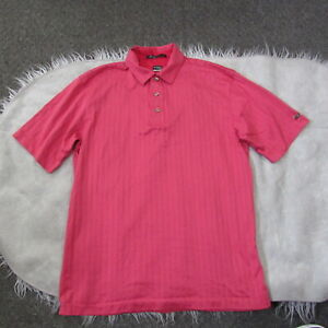Nike Fit Dry TIGER WOODS TW Collection Pink Golf Polo Shirt Size Medium