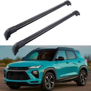 2Pcs Fits for Chevrolet Chevy Trailblazer 2021 Roof Rail Rack Cross Bar Crossbar