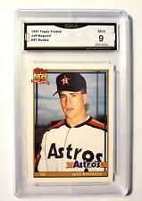 Jeff Bagwell 1991 Topps Traded #4T Graded GMA 9 Houston Astros Baseball Cards