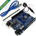 UNO R3 Plus Board MEGA328P CH340G Arduino Compatible + USB Cable + Battery Snap