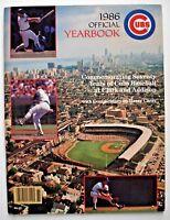 1986 Chicago Cubs Yearbook Wrigley Baseball Ryne Sandberg Rick Sutcliffe MLB VTG