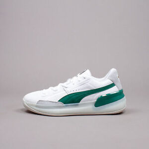 Puma Men Clyde Hardwood White Green Basketball Hoops classic New Rare 193663-02