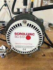Leybold Scrollvac Sc 5 D Oil Free Scroll Vacuum Pump