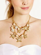 Kate Spade Coral Reef Double Row Bib Necklace & EARRINGS SET STARFISH SEA SHELL