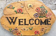 "Stepping Stone Concrete Mold ""Welcome 3"" cement, plaster"
