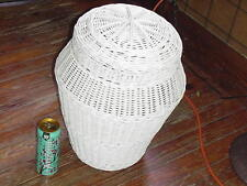 Rare Large wicker snake charmer storage basket with tight fitting lid