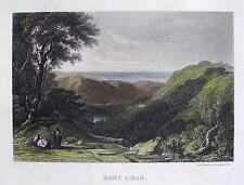 Libano montagne Mont-Liban Mount Lebanon altkolorierter acciaio chiave per 1850