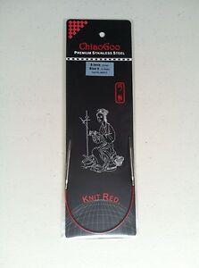 ChiaoGoo 9 Inch Regular RED Circular Knitting Needles Stainless Steel MPN 6009