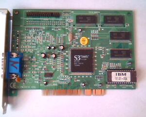 PCI Video card IBM V1.01-05A S3 Trio64V+ 75H9213 76H0429 J11UG879148 DXLDP172