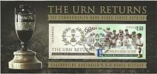 AUSTRALIA 2014 ASHES VICTORY THE URN RETURNS SERIES 5-0 Souvenir Sheet Used CTO