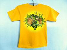JNCO Jeans M Medium Grafitti T Shirt Crown Cobra Yellow 90s Vtg Street Wear USA