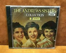 THE ANDREWS SISTERS COLLECTION CD ~ (25) Songs ~ NEW SEALED! ~ FREE SHIPPING