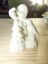 Dept. 56 Snow Babies Baby with penguin and Christmas Tree Make It Shine