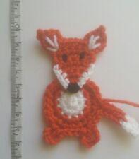 handmade crochet fox applique/embellishment