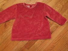 Baby & Toddler Clothing Petit Bateau Rust Velour Top Size 3 Pretty And Colorful