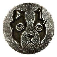 "Boston terrier dog plastic mold casting plaster concrete resin mould 7.75"" x 3/4"