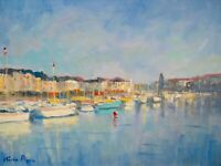 "9"" X 12"" AskArt Listed Nino Pippa Original Painting Normandy - Dieppe Harbor"