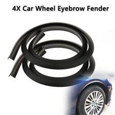 4PCS Black Car Wheel Eyebrow Protector Lip Arch Trim Flare Fender Strip