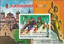 Äquatorialguinea block10 (complete issue) fine used / cancelled 1972 Olympics Su