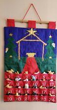 Advent Christmas Calendar Wall Hanging-Cloth-Size 15.5 X 23