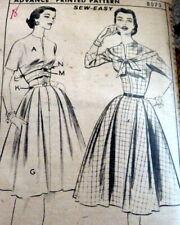 *LOVELY VTG 1950s DRESS  ADVANCE Sewing Pattern 18/36
