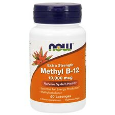 Now Foods Methyl B-12 10000 mcg - 60 Lozenges FRESH, FREE SHIPPING, MADE IN USA