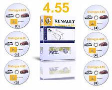 2016 Dialogys 4.55 manuales de taller reparación Catálogo de Piezas para Renault 6 Dvds