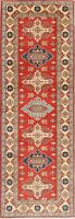 NEW 3x8 Wool Chechen-Kazak Hand-Knotted Oriental Runner Rug Geometric Carpet