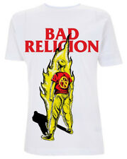 Bad Religion 'Boy On Fire' (White) T-Shirt - NEW & OFFICIAL!