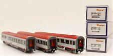 Roco 54165-64-63 Set 3 carrozze Eurofima treno rapido delle OBB scala HO
