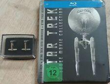 Star Trek Three Movie Collection Blu-ray Steelbook Manschettenknöpfe Neu OVP Lit