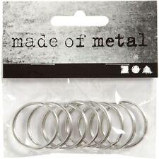 Lot de 8 anneaux porte clés diametre 40 mm.