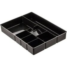 Deep Desk Drawer Organizer Tray, 9-Comp, Black