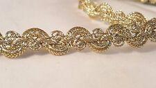 1.3cm- 1 metre Beautiful & unique gold braid lace trim for crafts decor DiY arts