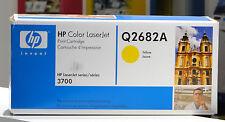 TONER ORIGINALE HP q2682a GIALLO 311a NUOVO + OVP F. COLOR LASERJET 3700 Series