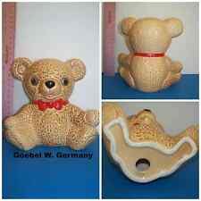 Goebel West Germany Ceramic Signed #ed Red Bow Collectible Brown Teddy Bear NICE