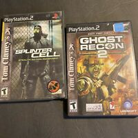 PS2 Tom Clancy Ghost Recon 2 and Splinter Cell Stealth Action  FREE SHIPPING