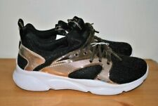 S Sport by Skechers Sneakers Edena Black & Gold Youth Girls Size 5