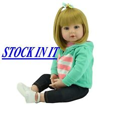 "19"" Reborn Bambole bambino Realistico Silicone bambola reborn baby Regalo natale"