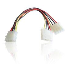 Molex 2 vías doble alimentación interna y Splitter Cable Cable de alimentación para la unidad de disco duro