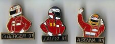 PIN'S PINS 3 PILOTES F1 AUTOMOBILE SENNA ALESI BERGER TBE PORT GRATUIT EN FRANCE