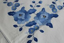 Vintage Fab Applique Cotton Tablecloth 68x84 12 Napkins Unused Shades of Blue