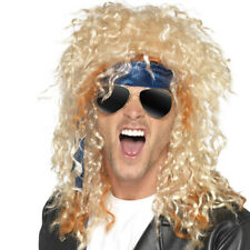 Heavy Metal Rocker Axl Rose Blonde Wig Glasses and Bandana