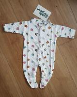 BNWT Baby Boy Baby Girl Unisex 0-3 months 100% Bamboo Safari Animal Sleepsuit