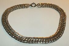 Vintage GOLD over Sterling silver interwine Link chain necklace 38.6 grams