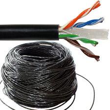 100m CAT6 outdoor réseau câble bobine/tambour-cuivre-externe ethernet lan utp RJ45