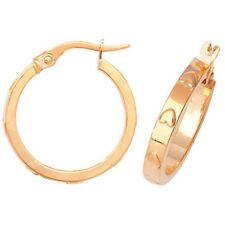 9ct Yellow Gold Heart Hoop Earrings