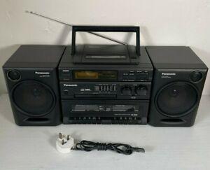 Panasonic RX-DT610 - BOOMBOX GHETTO BLASTER - CD Radio Twin Tape Portable Stereo